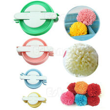 8pc 4 Sizes Pompom Maker Fluff Ball Weaver Needle Knitting Wool Tool Craft DIY E