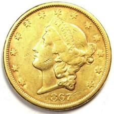 1867-S Liberty Gold Double Eagle $20 Coin - Excellent Condition - Nice Luster!