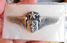 USAF Air Force Chief Flight Nurse full size wing badge insignia pin '83 pkg.