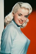 Diana Dors enormous bust smiling in tight sweater 11x17 Mini Poster