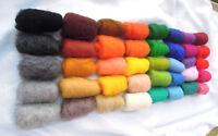 40 Farben Filzwolle zum Filzen / 40 Colors Wool fiber for felting 200 g / 7 oz