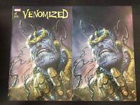 Venomized #1 Parrillo Trade & Virgin variant Cover NM 9.4 Unread Marvel 2018
