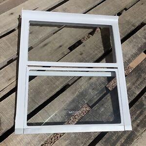 LG Refrigerator Glass Spill Protector Folding Shelf Slide Open Half #MHL622939-2