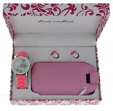 Women's Gift Watch Set with Wallet Bag Case Cell Phone & Earbuds Headphone