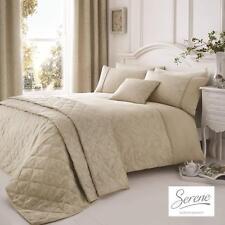 Serene Ebony Jacquard Easy Care Duvet Cover Bedroom Range Natural
