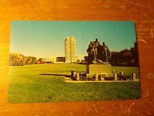 Vintage Postcard Pioneer Family, State Capitol Grounds, Bismark, North Dakota