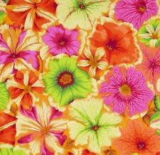 PETUNIAS ~ Philip Jacobs~ Kaffe Fassett ~Orange ~Fabric~ per 1/2 yard