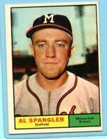 1961 Topps #73  Al Spangler  (EM) --  Milwaukee Braves    Lot 717
