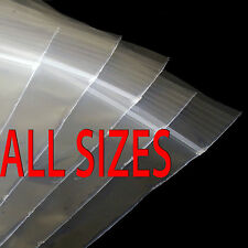 Clear Plastic Poly Grip Self Seal Resealable Zip Lock Bags Size Small To Large