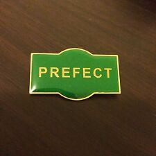 PREFECT Metal School Badge / Pin GREEN Enamel