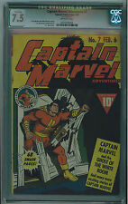 CAPTAIN MARVEL ADVENTURES #7 CGC QUALIFIED 7.5 OFF-WHITE PAGES GOLDEN AGE