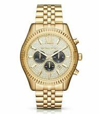 Michael Kors Lexington Gold Pave MK8494 Chronograph Watch for Men