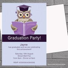 Graduation Invitations Celebration Graduate Party x 12 with free envelopes H0638