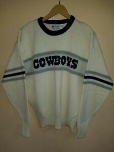 Mens L Vintage NFL Dallas Cowboys Sweater Cliff Engle Ltd. Wool