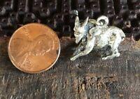 Vintage Sterling Silver 925 Donkey 3D Charm Pendant 4.8g