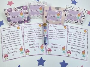 Personalised Purple Tooth Fairy Letters Set, With Fairy Dust, Any Name