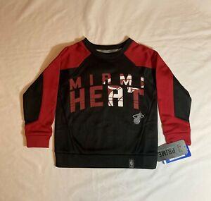 New Miami Heat Tek Warm Back Court Crew Sweatshirt, Kids Size Small (4),NBA