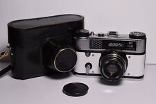 FED 5C White body Soviet 35mm Rangefinder Camera, Industar-61 L/D (2.8/55)