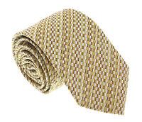 Missoni U5299 Gold Check 100% Silk Tie
