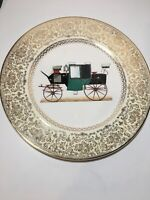 "Carriage Design 10.75"" China Plate Imperial by Service Plate - Salem China Co."