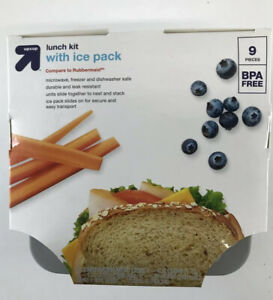 Up And Up 9 Piece Lunch Box Salad and Sandwich Kit with ice pack