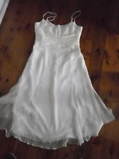 MOSS & SPY BNWT RRP $413 Ivory Silk Strappy Occasion Dress Size 10