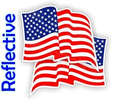 Reflective American Flag Hard Hat Stickers | Flags Decals Helmet Motorcycle Usa