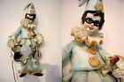 RARE mid century   PULCINELLA figurine ceramic Wall light sconce clown Venetian