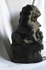 A Pair of Chinese Grey Stone Lions / Foo Dog Statues beautiful