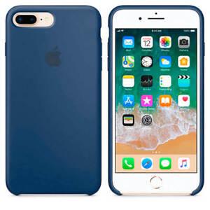 Funda de Silicona suave con logo para Apple iPhone 7 Plus / 8 Plus Azul