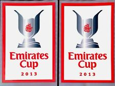 2013 Emirates Cup Football  OFFICIAL Player Issue Size Soccer Badge Patch Set