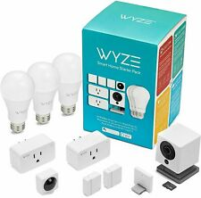 Wyze Smart Home Starter Pack:Camera,Motion Sensor,Smart Plugs & LED Bulb,SD card