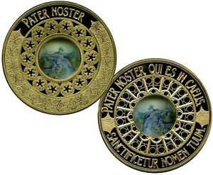 THE LORD'S PRAYER COLOSSAL COMMEMORATIVE S COIN PROOF LUCKY MONEY VALUE $139.95