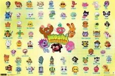 NINTENDO MOSHI MONSTERS CHART VIDEO GAME POSTER 34X22 NEW FREE SHIPPING
