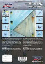 Harder & steenbeck aerógrafo Plantillas-Tornillo Head Set