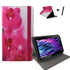 10.1 zoll Motiv Tablet Tasche Hülle Case Etui - Fusion5 104 GPS - Orchidee