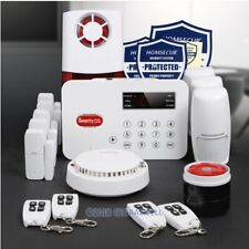 Wireless Landline/PSTN Burglar Intruder Alarm System With Smoke Detector