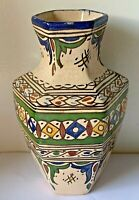 ANTIQUE MIDDLE EASTERN CERAMIC HAND PAINTED VASE SIGNED