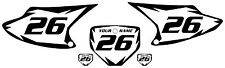 2003-2007 HONDA CRF230F Custom PrePrinted White Backgrounds Black Shock Series