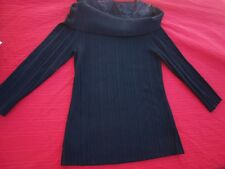 WITCHERY  TWO IN ONE LOOK BLACK 3/4 SLEEVE KNIT TOP. NWNT. SZ : MEDIUM. L@@K!!!
