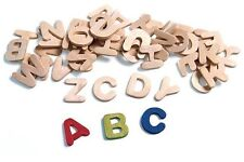"75 Wood Letters 7/8"" Tall Assorted Letters Great Value Wooden ABC"
