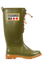 DSQUARED2 WELLIES RUBBER BOOTS GREEN SIZE 43 STIVALI DI GOMMA SIZE 43 EU D2