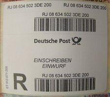 150 Stück Deutsche Post Einschreiben-Einwurf Label Aufkleber (ohne Porto)