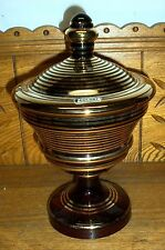 Gold Ring Accent Glass Candy Dish - Colony - Czechoslovakia