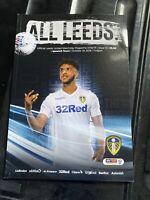 Leeds United Vs Ipswich Town Programme 24th October 2018