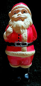 ANTIQUE CELLULOID SANTA CLAUS WITH DOLL. CHUBBY AND CUTE. MINTY !