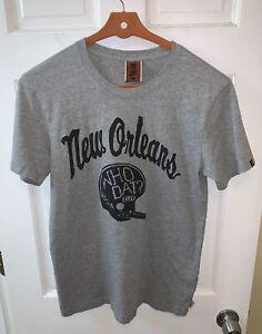 Nike New Orleans Saints Men Medium M Tee T Shirt Who Dat NFL Football Gray Grey
