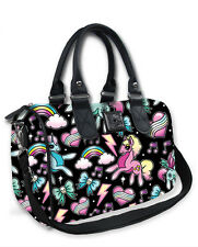 Liquor Brand Damen UNICORNS Handtasche/Bags.Tattoo,Pin up,Biker Clothing Style