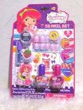 New - Strawberry Shortcake 3D Nail Set toy (over 65 pieces) 3 years+