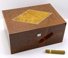 Angelo Humidor Intarsien Premium ca 85 Zigarren Hygrometer Polymere-Befeuchter